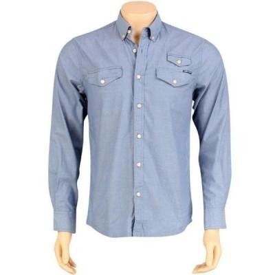 ユニセックス 衣類 アパレル The Hundreds Butter Long Sleeve Shirt (blue)