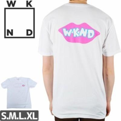 ウィークエンド WKND スケボー Tシャツ LIPS ARE SEALED TEE NO3