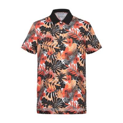 ビッケンバーグ BIKKEMBERGS ポロシャツ オレンジ XL コットン 92% / ポリウレタン 8% ポロシャツ