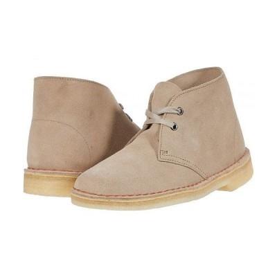 Clarks クラークス レディース 女性用 シューズ 靴 ブーツ チャッカブーツ アンクル Desert Boot - Sand Suede 1