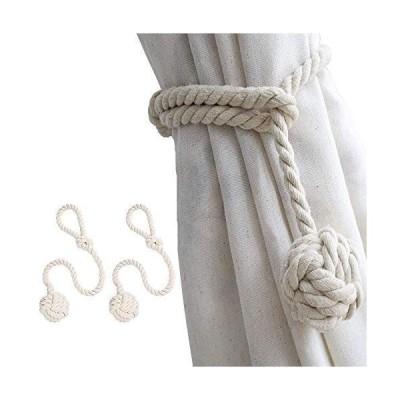 2個セット FUKUSHOP カーテンタッセル カーテンロープ カーテン留め飾り カーテンアクセサリー ロープタッセル 紐 締め 房掛け バ