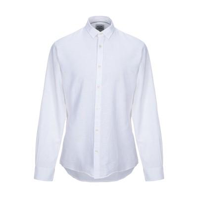 ONLY & SONS シャツ ホワイト L コットン 55% / 麻 45% シャツ