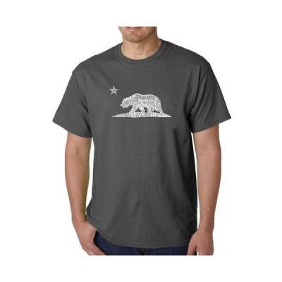 エルエーポップアート メンズ Tシャツ トップス Mens Word Art T-Shirt - California Bear
