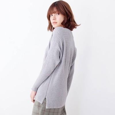 SHOO・LA・RUE/Cutie Blonde(シューラルー/キューティーブロンド)/【M-L/洗える/吸湿発熱】 切替リブニット