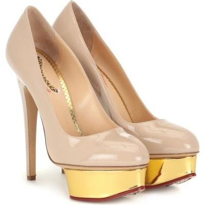 シャーロット オリンピア Charlotte Olympia レディース パンプス シューズ・靴 dolly patent leather plateau pumps Pastel Pink