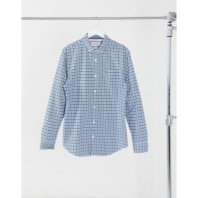 オリジナルペンギン メンズ シャツ トップス Original Penguin tattersal check long sleeve shirt