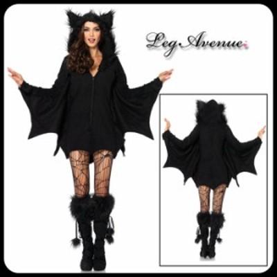Leg Avenue(レッグアベニュー) 送料無料 コウモリの着ぐるみ風ドレス 蝙蝠 コスチューム ハロウィン コスプレ 仮装 衣装 即納 85311