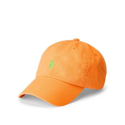 POLO RALPH LAUREN 帽子 オレンジ one size コットン 100% 帽子