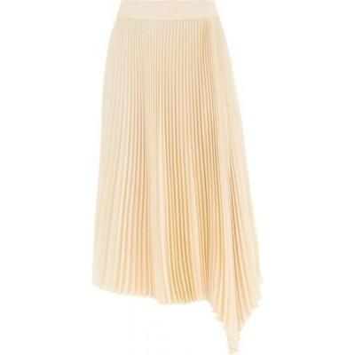 ジョゼフ Joseph レディース ひざ丈スカート スカート Asymmetric technical-pleated midi skirt Ivory