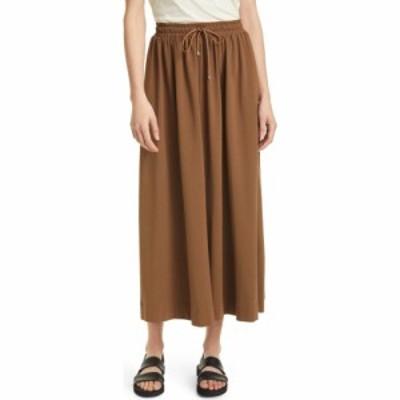 マックスマーラ MAX MARA LEISURE レディース スカート Radar Tie Waist Jersey Skirt Golden Green Brown