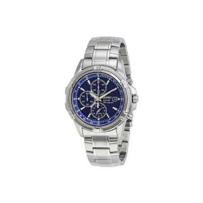 腕時計 セイコー メンズ Seiko Solar Alarm Chronograph Blue Dial Men's Watch SSC141