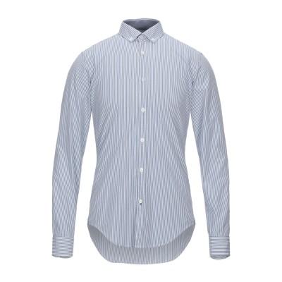 BOSS HUGO BOSS シャツ ブルーグレー S コットン 100% シャツ