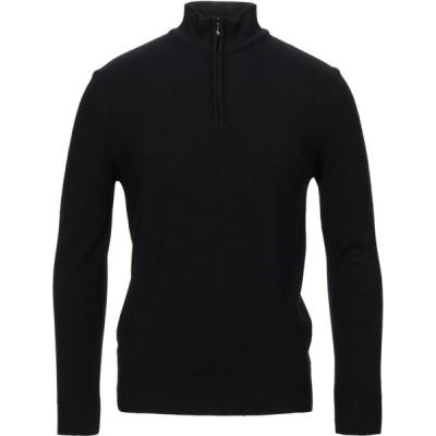 TSD12 メンズ ニット・セーター トップス sweater with zip Black