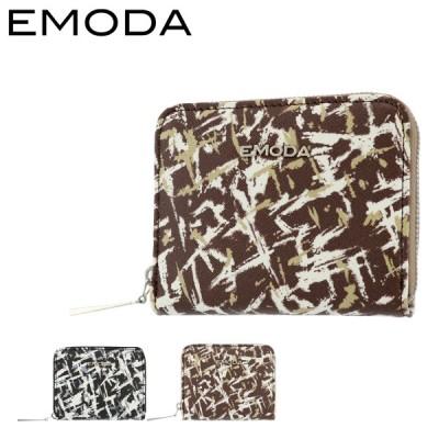 エモダ 財布 ミニ財布 ラウンドファスナー レディース プリント EM-9789 EMODA | キーケース 定期入れ