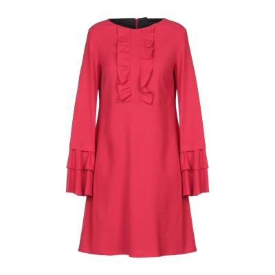 1-ONE ミニワンピース&ドレス レッド 40 レーヨン 70% / バージンウール 28% / ポリウレタン 2% ミニワンピース&ドレス