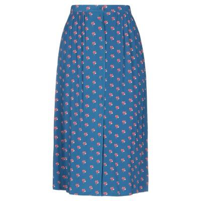 SIYU 7分丈スカート ブルー 38 レーヨン 95% / ポリウレタン 5% 7分丈スカート