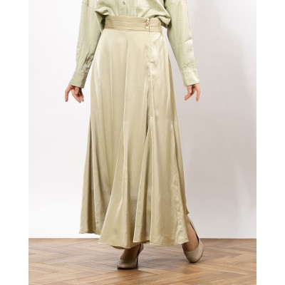 ランダ RANDA サテンマーメイドスカート (GREEN)