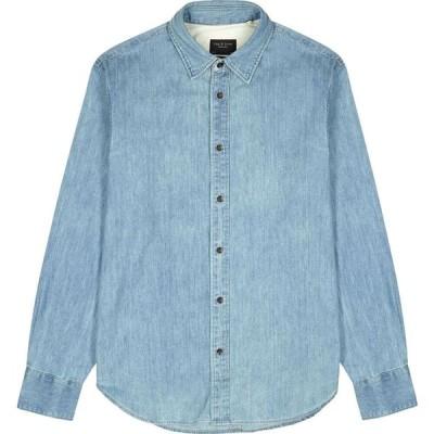 ラグ&ボーン rag & bone メンズ シャツ デニム トップス Blue Denim Shirt Blue