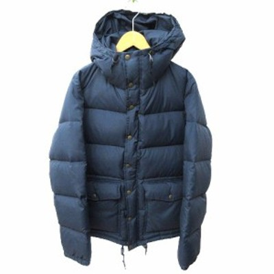 【中古】フィグベル PHIGVEL ダウンジャケット フーデッド 05F-OT01 アウトドア 1 S 紺 ネイビー K122907 メンズ