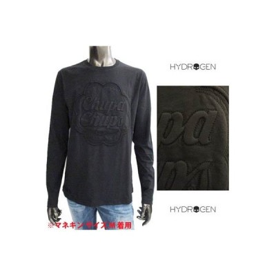 ハイドロゲン HYDROGEN メンズ トップス ロンT 長袖 ロゴ チュッパチャップスポップアップロゴ/HYDROGENロゴ刺繍付きロングTシャツ (R28600) 121