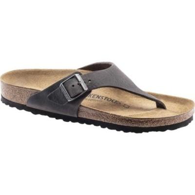 ビルケンシュトック メンズ サンダル シューズ Como Thong Sandal Camberra Iron Oiled Leather