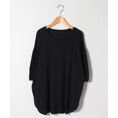 (A HAPPY MARILYN/アハッピーマリリン)ハッピーモイスチャー 夏の至福の カットソー ギャザー袖 Tシャツ/レディース ブラック