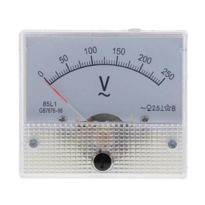 正確な85L1 AC電圧計のアナログのポインターの電圧計の0-250V