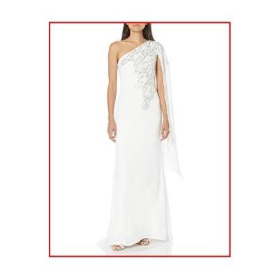 【新品】Tadashi Shoji Women's Gown, Ivory/Silver, 4【並行輸入品】