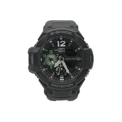 カシオ 腕時計 Casio G-Shock G-Aviation Twin Sensor ウイズ Illuminator メンズ 腕時計 GA1100-1A3