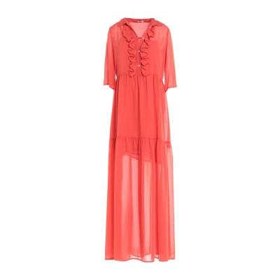 GOLD CASE ロングワンピース&ドレス オレンジ 38 ナイロン 100% ロングワンピース&ドレス