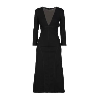 ディースクエアード DSQUARED2 7分丈ワンピース・ドレス ブラック XS レーヨン 67% / ナイロン 28% / ポリウレタン 5% 7