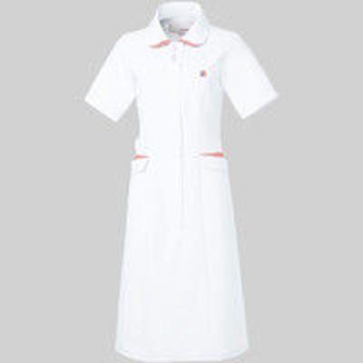 明石スクールユニフォームカンパニールコックスポルティフ ワンピース UQW0040 ホワイト×ピンク 4L 医療白衣 1枚(直送品)