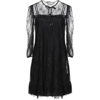 ツインセット シモーナ バルビエリ TWINSET ミニワンピース&ドレス ブラック 46 ナイロン 100% / ポリエステル ミニワンピース&ド