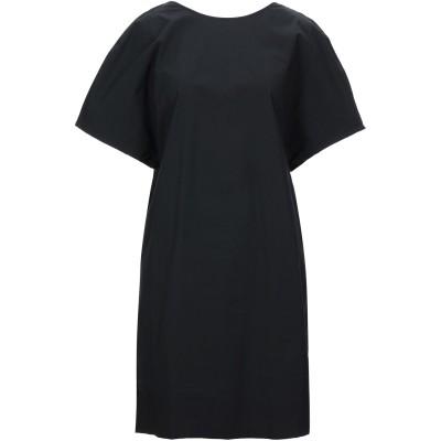 リビアナ コンティ LIVIANA CONTI ミニワンピース&ドレス ブラック 46 コットン 95% / ポリウレタン 5% ミニワンピース&ド