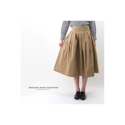 GRANDMA MAMA DAUGHTER グランマ ママ ドーター レディース コットンデニム プリーツスカート(GK001)(BASIC)