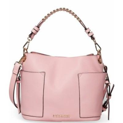 スティーブ マデン レディース ショルダーバッグ バッグ Sammy Studded Strap Bucket Hobo Bag Pink