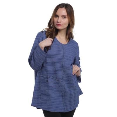レディース 衣類 トップス Habitat Women's Opposites Attract Pieced Swing Vee Delft Blue Small ブラウス&シャツ