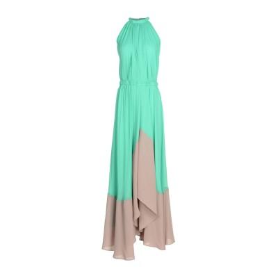 サローニ SALONI ロングワンピース&ドレス ライトグリーン 8 100% レーヨン ロングワンピース&ドレス