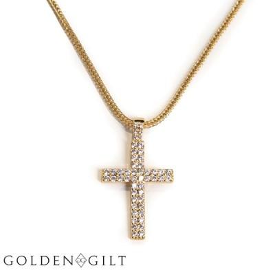 ネックレス Golden Gilt ゴールデンギルト クロスモチーフ ゴールド / Cross - Double Row Pendant / Design By TSS