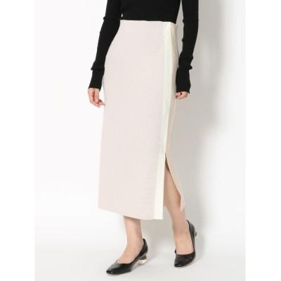 【ラグナムーン/LAGUNAMOON】 サイドスリットラインニットスカート