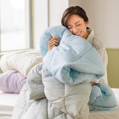 ベッド 寝具 布団 毛布 洗える布団 敷布団 シングル(テンセル TM &ガーゼ寝具シリーズ ふわふわコンフォーター) 565101