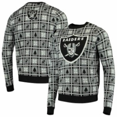 Forever Collectibles フォーエバー コレクティブル 服 スウェット Oakland Raiders Black Big Logo Pullover Sweate