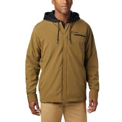 コロンビア メンズ ジャケット・ブルゾン アウター Columbia Men's Tech Trail Shirt Jacket Interchange Olive Brown/Black Liner