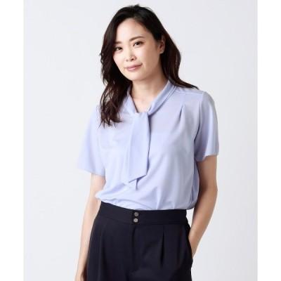 tシャツ Tシャツ ボウタイ半袖カットソー(スーツインナー対応)