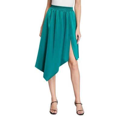 アリス アンド オリビア レディース スカート ボトムス Angelique Smocked-Waistband Asymmetric Skirt