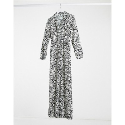 オンリー レディース ワンピース トップス Only Ophelia long sleeve boilersuit in white