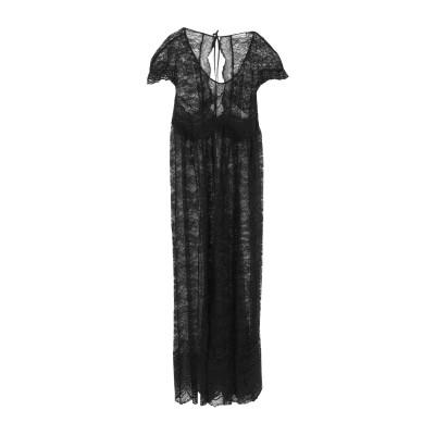 パコ ラバンヌ PACO RABANNE ロングワンピース&ドレス ブラック 40 ナイロン 100% / ポリウレタン / コットン ロングワンピ