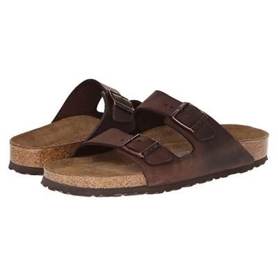 ビルケンシュトック Arizona Soft Footbed - Leather (Unisex) メンズ サンダル Habana Oiled Leather