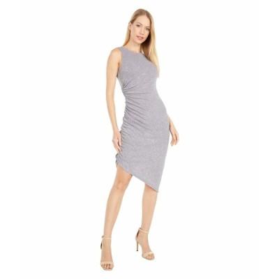 ヴィンスカムート ワンピース トップス レディース Sleeveless Cocktail Dress with Side Ruching Steel