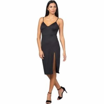 ベベ Bebe レディース ワンピース スリットワンピース ワンピース・ドレス High Slit Knit Midi Dress Black